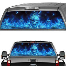 Funny Scary Car Rear Window Sticker Horror Skull Flaming Decal for Truck suv