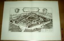 Leipzig alte Ansicht Braun-Hogenberg Druck Stich 1617 (schw)