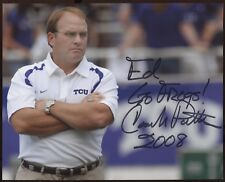 Gary Patterson Signed 8x10 Photo College NCAA Football Coach Autograph TCU