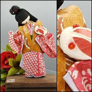 Vintage Japanese KOKESHI Geisha Doll Bunny Kimono Nihongami 日本髪Japan