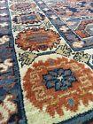 Large Pure Wool Belgium Carpet Caucasus Soumak  Style