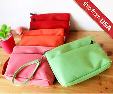 Candy Color Cosmetic Case Makeup Bag Purse Organizer Pouch with Hand Strap Cute