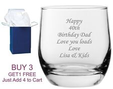 Personalised Engraved Whisky Glass Best Man, Usher Dad Daddy Wedding Gift Box