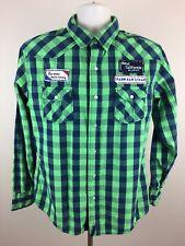 Paper Denim & Cloth Mens PD&C Pearl Snap Button Western Fishing Shirt Size L
