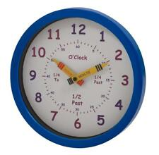 UNITY CHILDREN'S BEDROOM NURSERY LEARN TO TELL THE TIME CLOCK IN BLUE (BOYS)