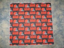 NFL CLEVELAND BROWNS HEAD BANDANA / CHEERING CLOTH - APPROX 22 1/2 ""