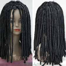 Dreadlocks American African Wig Long Rolls Curls Hair Cosplay Costume Black Wig