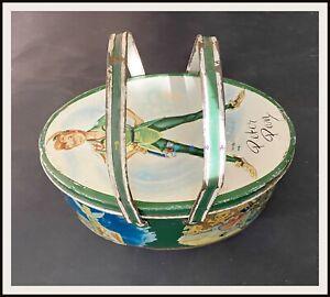 ⭐ PETER PAN oval Tin Lunch Box - Disney 1953 - DISNEYANA.IT ⭐