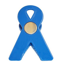 Awareness Ribbon Magnetic Memo Holder Clip Blue. Case pack of 30 units.