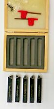 "5 PIECE SET 1//4/"" INDEXABLE TURNING TOOLS W// TCMT 21.5 INSERTS INSTALLED   E102"