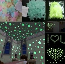 Wall stickers for bedroom Ceiling Star Stickers Fluorescent 100 pcs DIY - PCV