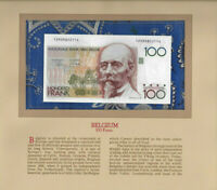Most Treasured Banknotes Belgium 1982 100 Francs UNC P 142a.1 Dasin & Strijcker