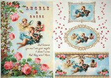 Rice Paper -Vintage Colorful Angels- for Decoupage Decopatch Scrapbook Craft