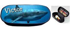 Trousse à crayons Requin personnalisée avec prénom