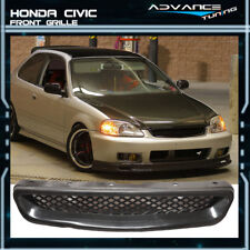 Fit For JDM 99-00 Honda Civic T-R Style Front Hood Mesh Grill Grille ABS