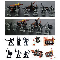 14PCS Plastic Knights Medieval Rome Toy Catapult Bow Soldiers Figures Playset