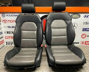 AUDI A4 B7 S LINE SALOON SET OF TWO TONE LEATHER ELECTRIC INTERIOR SEATS