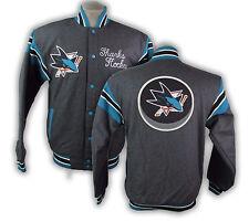 San Jose Sharks Reversible Victor Wool Jacket Snap Up NHL Men's