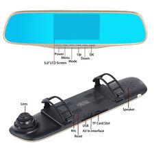 """5"""" Dual Lens Kamera 1080P HD KFZ AUTO DVR Dashcam Rückspiegel Recorder Video HOT"""