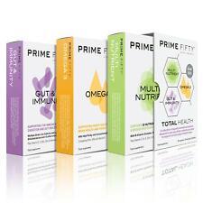 PRIME FIFTY Total Health   OMEGA 3, PROBIOTICS & MULTIVITAMINS   30 Caps Each