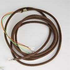 Vintage Telephone Cloth Covered Line Cord -Brown - Spade - Modular - SKU - 30010