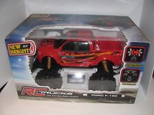 New Bright R/C Full Function Ford F-150 Pick-Up Truck Car Red & Black New NIB