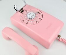Professionally Restored Antique Telephone w/ Rotary Dial / Mod Back - 554- PINK!