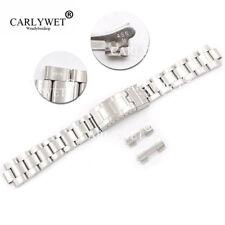 20mm Glide Lock Clasp Brushed Vintage Watch Band Bracelet for Oyster 70216 455B