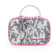 MIAMICA INNER BEAUTY SMALL PYTHON COSMETIC MAKEUP TRAVEL BAG CASE ORGANIZER