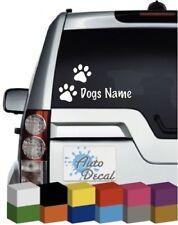 Dog Paw Print and Name (Personalised) Vinyl Car, Van, 4x4 Sticker