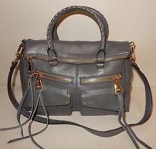 Aimee Kestenberg Leather Satchel Handbag - Soho in Charcoal Gray