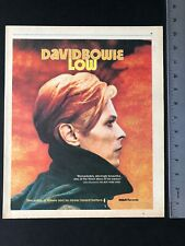 "David Bowie 1977 Original 11X13.5� Album Release Of ""Low� Promo Ad"
