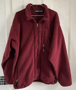 Mens XL Red Patagonia Synchilla Vintage Fleece Full Zip Jacket VGC