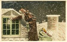 Carte Bonhomme Noël Père Noël sur les toits