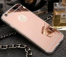 3D Luxury Bling Diamond Crystal Ring Holder Stand Kickstand Mirror Phone Case #A
