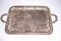 """VINTAGE SILVER PLATED SERVING TRAY 22 5/8"""" X 13"""""""