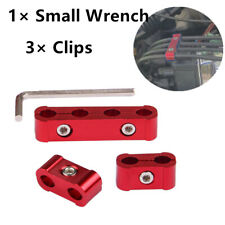 3 Clips 1 Wrench Ideal For 8-10mm Engine Spark Plug Wire  Separator Organizer