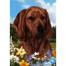 Summer Garden Flag - Redbone Coonhound 184041