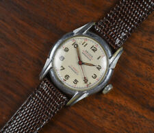Vintage HELIOS Manual Wind Military Style 17 Jewel Men's Watch Leather Band