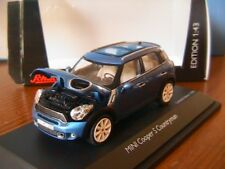 MINI COOPER S COUNTRYMAN TRUE BLUE 2010 SCHUCO 07442 1/43 BMW BLEU BLAU AUSTIN