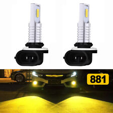 2Pcs Fog Light 70W Led Bulbs Kit 3000K Yellow 881 896 For Volvo Vnl Vn 2003-2015