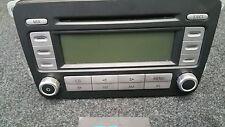 VW PASSAT B6 3C STEREO CD PLAYER CHROME RCD 300 1K0035186R WITH CODE