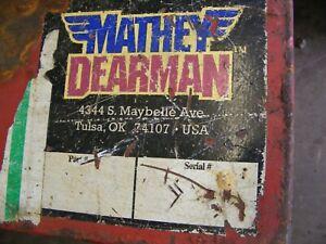 PIPE WELDING CLAMP Mathey Dearman £780 +vat  used item. Bargain