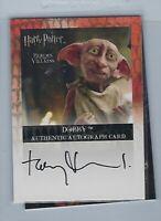 Harry Potter Artbox Toby Jones Voice Role Of Dobby Autograph Card