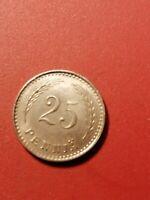 Finland 25 penni 1921-Nickel  *condition good *