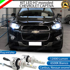 KIT LED H7 CHEVROLET CAPTIVA RESTYLING 6500K CANBUS 12000 LUMEN MONO LED