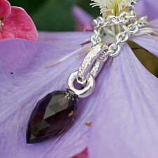 CHILANGO Anhänger Jewel Heart Junior Rauchquarz 925er Silber 38x12 mm orig Etui