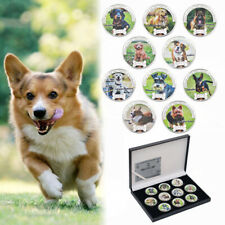 WR 2018 Dog Colored Silver Commemorative Coin Collection Set 10pcs In Gifts Box