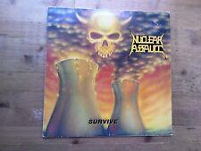 Nuclear Assault Survive Very Good Vinyl LP Record Album FLAG21 1988 Release