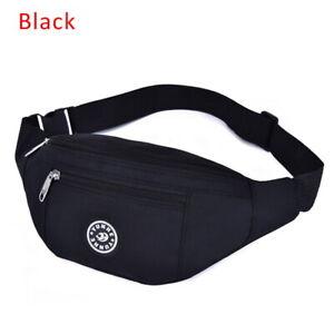 Waterproof Sport Waist Bags Running Belt Bum Bag Zip Fanny Pouch Pack Unisex US